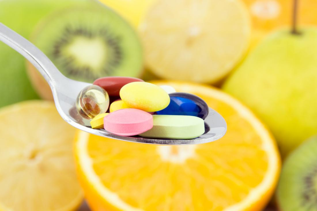 multivitamins on a spoon may help with bad taste in the mouth