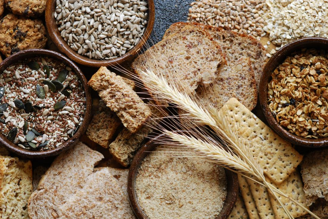 whole grains and cereals are a good source of fiber