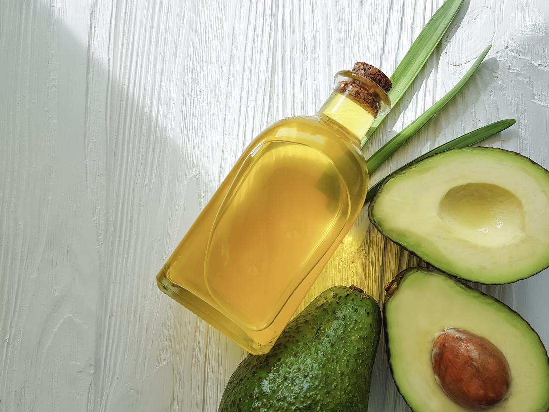 Avocado oil which can be used on the hair
