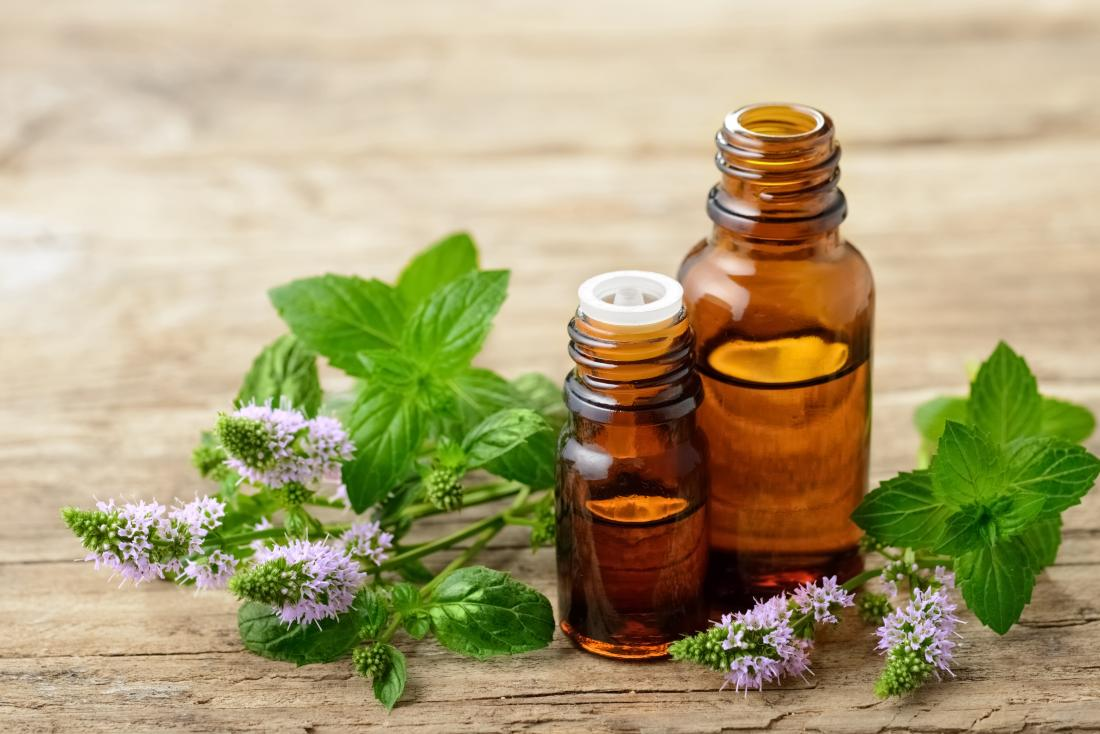 essential oils such as peppermint are good for sore throat