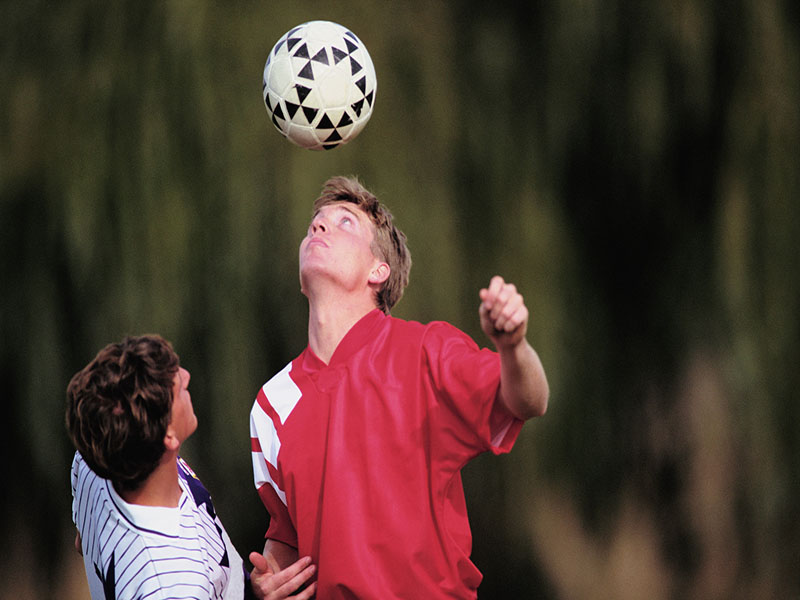 News Picture: For Soccer Players, Heading May Pose Bigger Risk Than Collisions