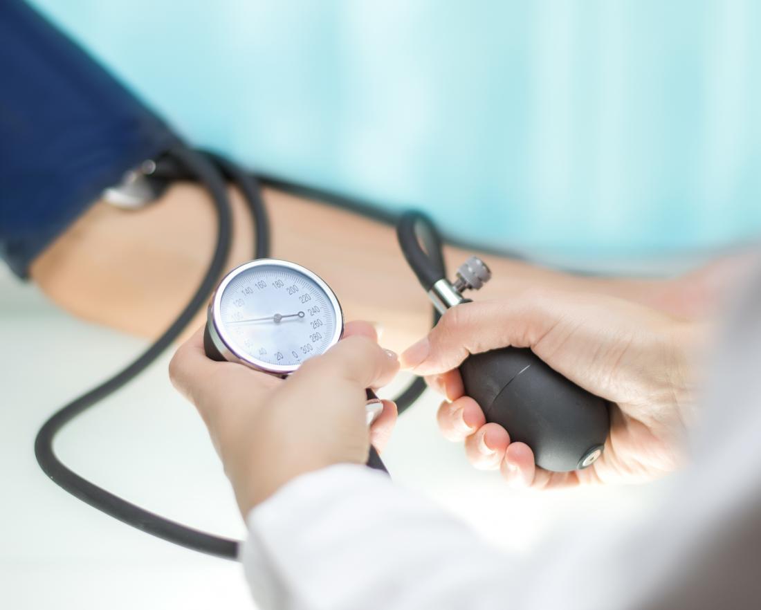Doctor measuring blood pressure