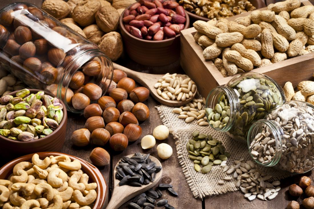 a selection of nuts and seeds