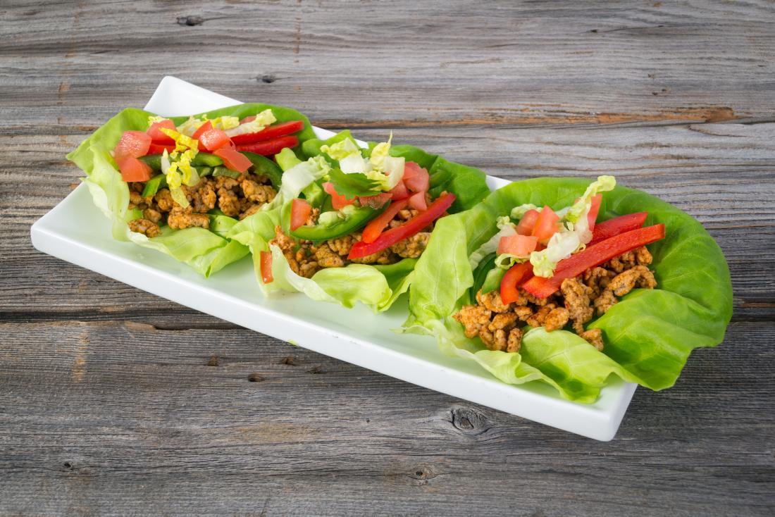 lettuce leaf tacos for a low-carb diet