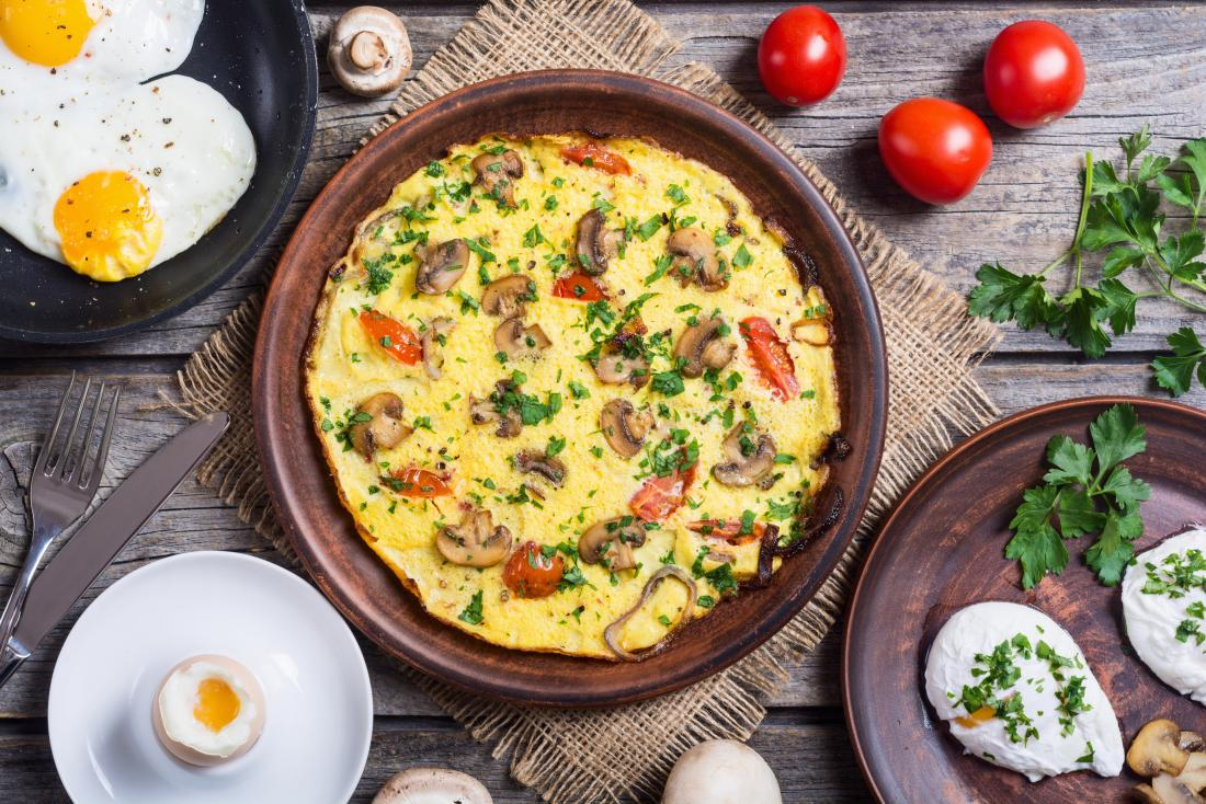 Eggs cooked in various ways are a good option for a low-carb diet