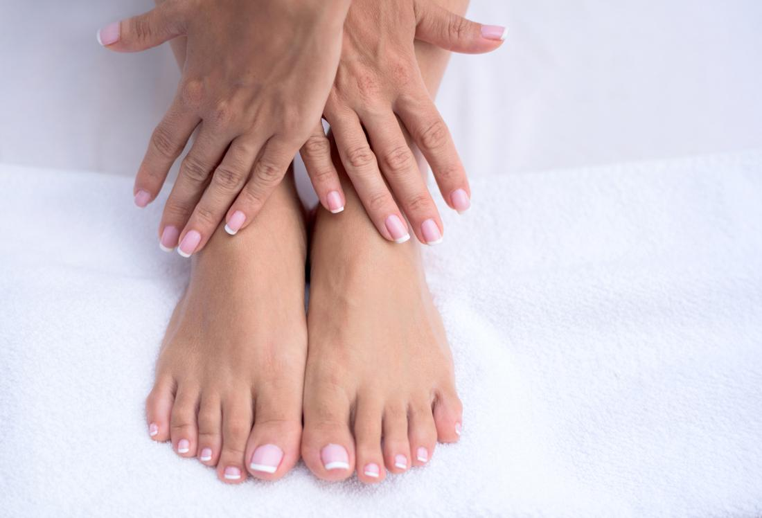Image of feet and hands that may be tingling