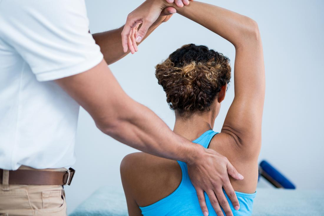 Physiotherapy treats calcific tendonitis