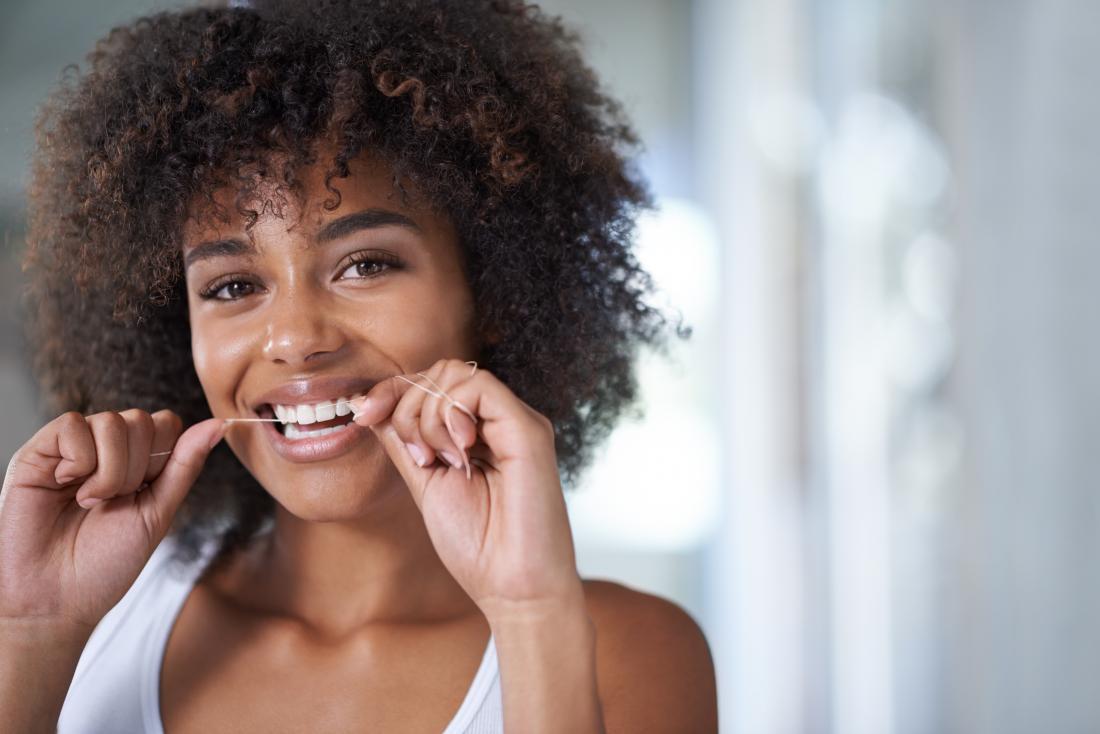 Preventing white spots on gums