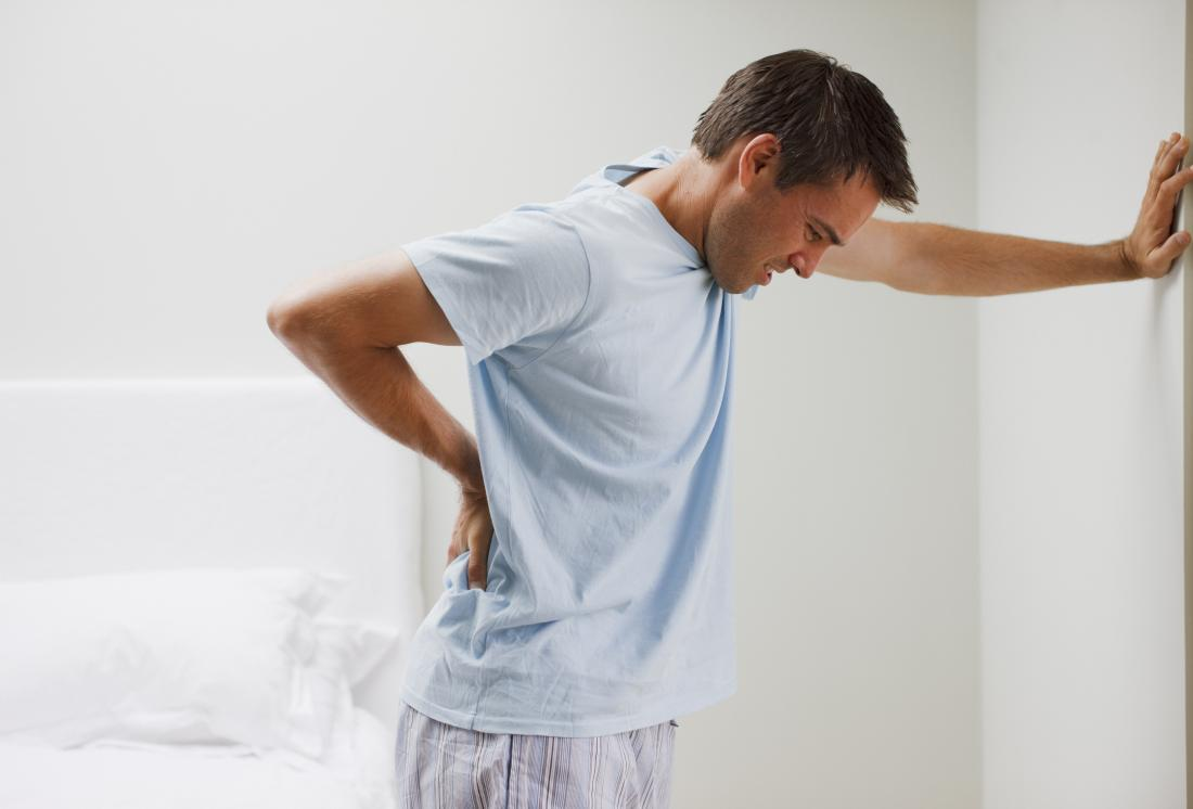 Severe back pain may be a symptom of psoriatic arthritis.