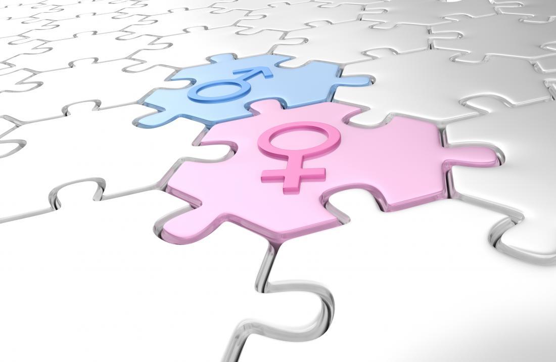 male female symbols on puzzle pieces