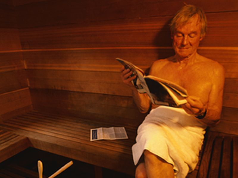 News Picture: Could Time in a Sauna Lower Your Stroke Risk?
