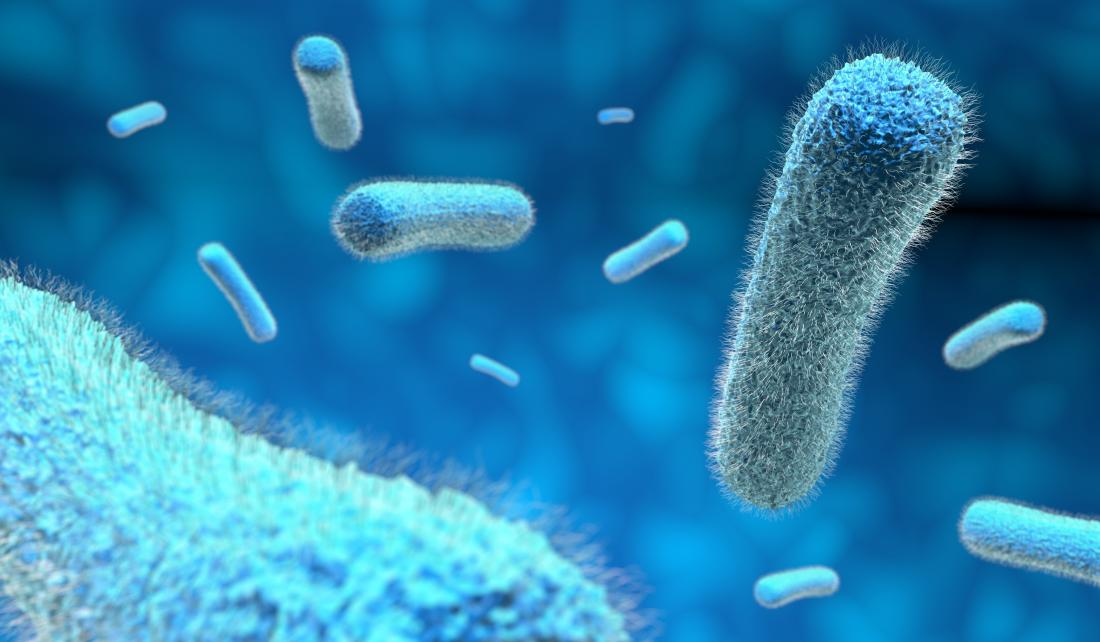 microbes in blue