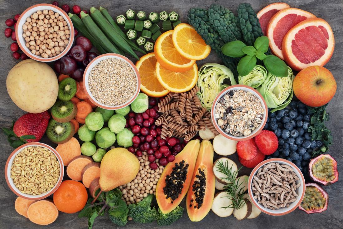 fruits vegetables and whole grains