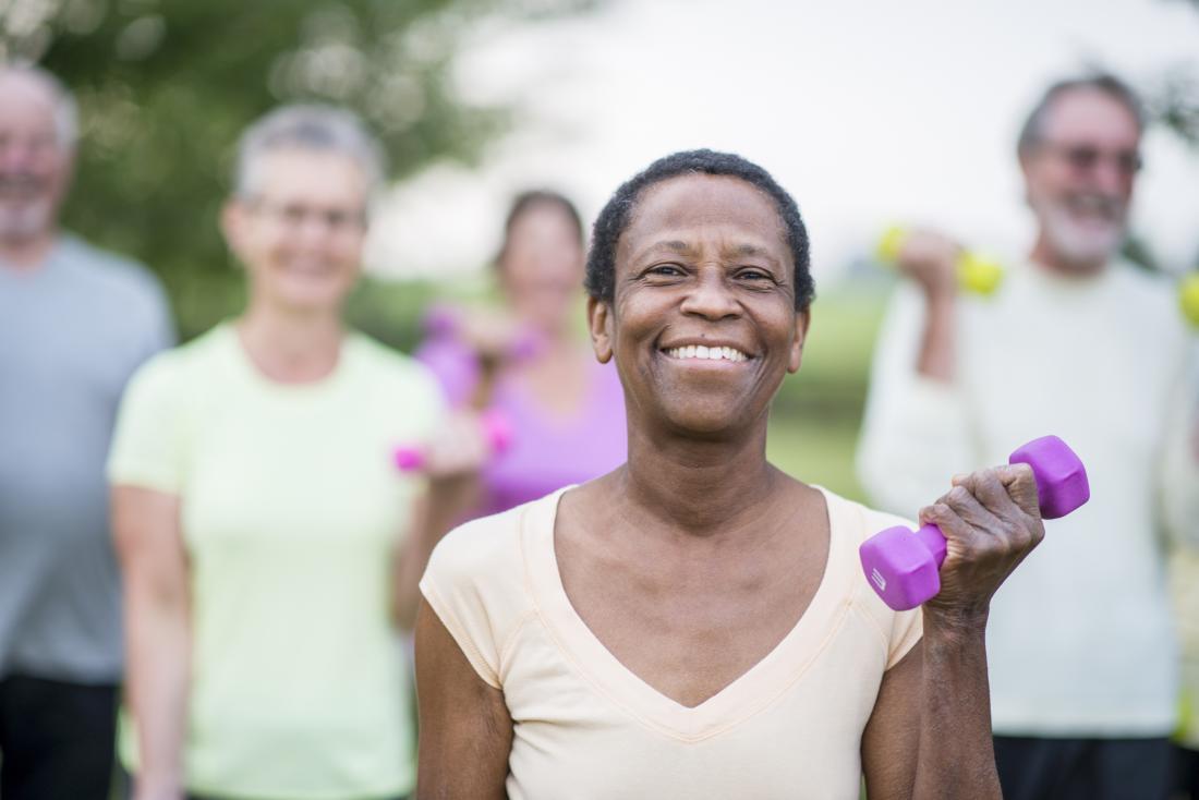 older individuals exercising