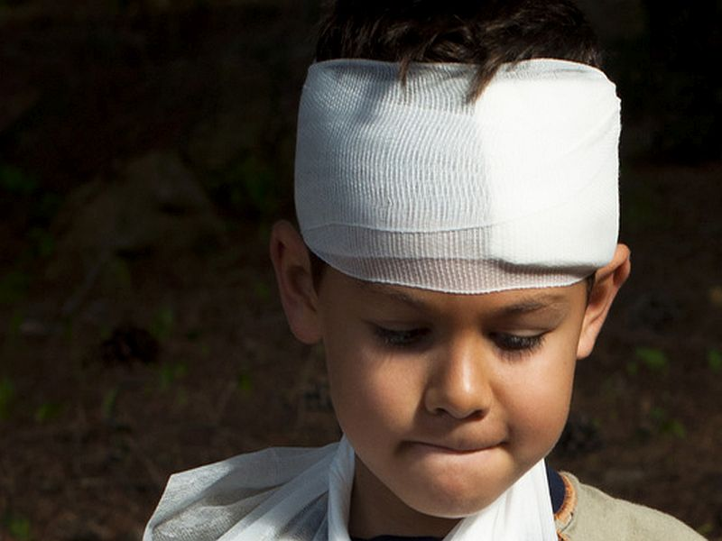 News Picture: Injured Kids Can Have Lasting Mental Scars, Too