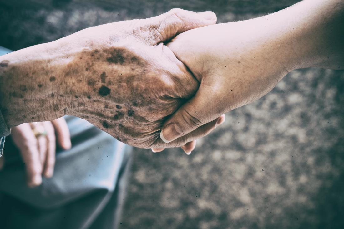 Older adults hand