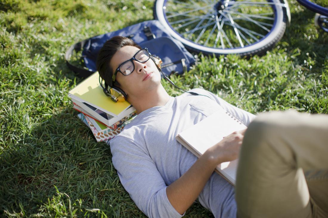 student asleep