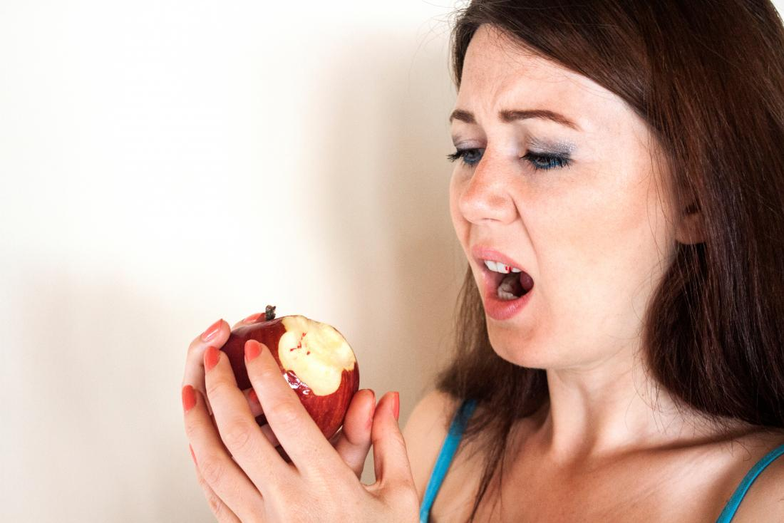 Menopause can lead to pale and bloody gums