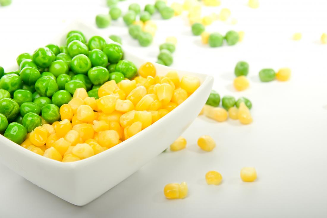Peas and corn in a bowl which may be undigested food in stool