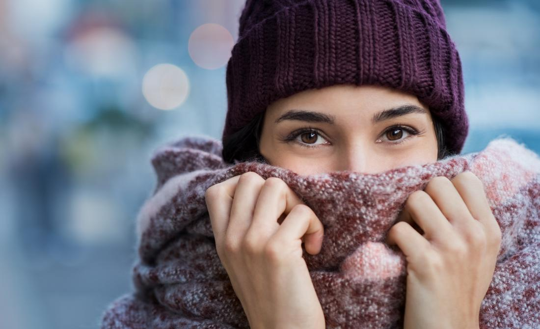 hats and scarves can help prevent cold nose