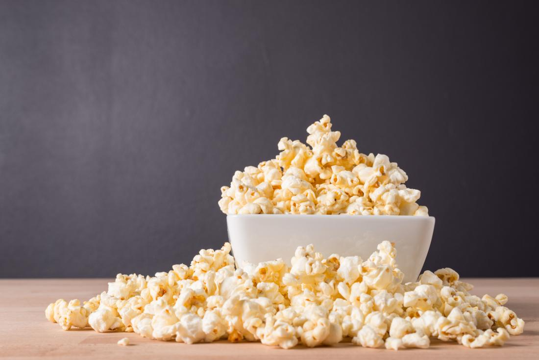 Popcorn in a bowl representing urine smelling like popcorn.