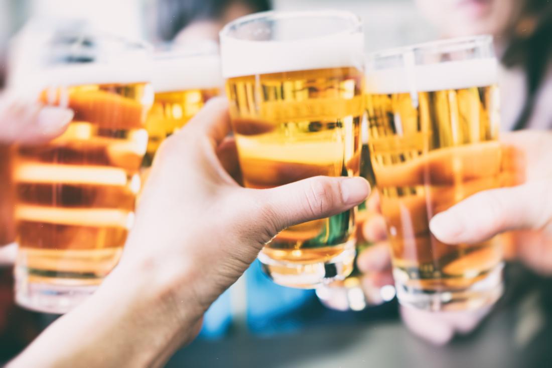 Friends drinking beers