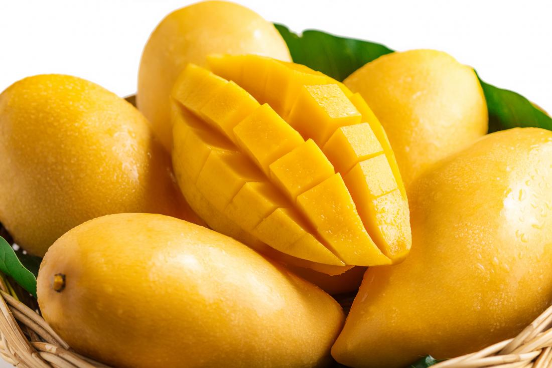Mangoes chopped and fresh