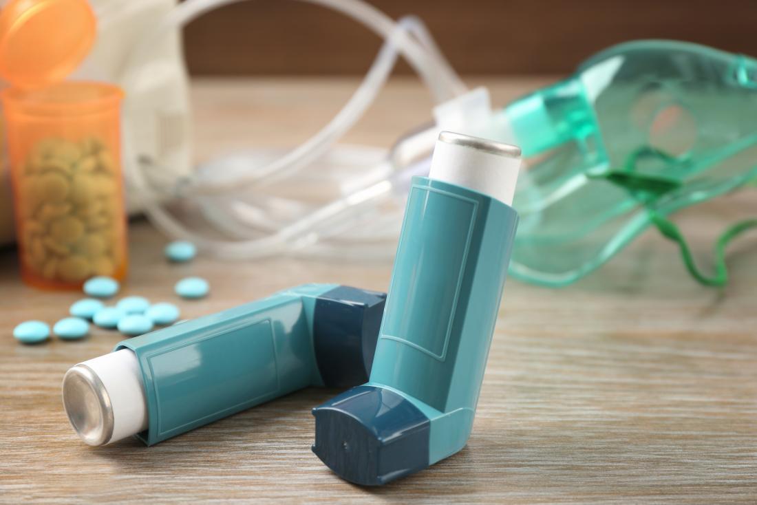 inhaler and tablets and nebuliser