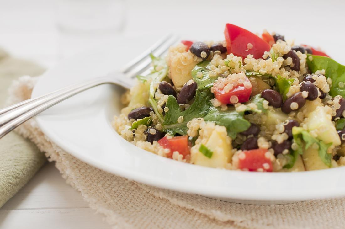 Vegan plant based salad for healthy meal.