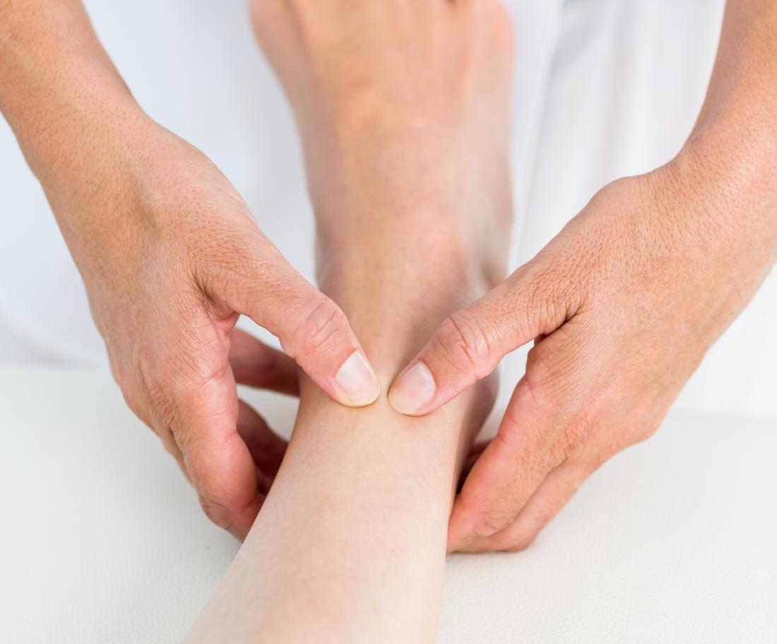 foot massage - Top and side circles