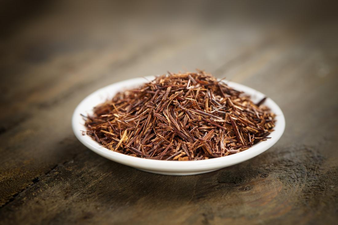 Loose rooibos tea on a plate