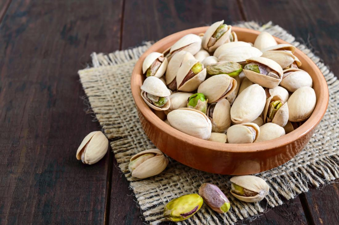 pistachio nuts are a good food source for high blood pressure