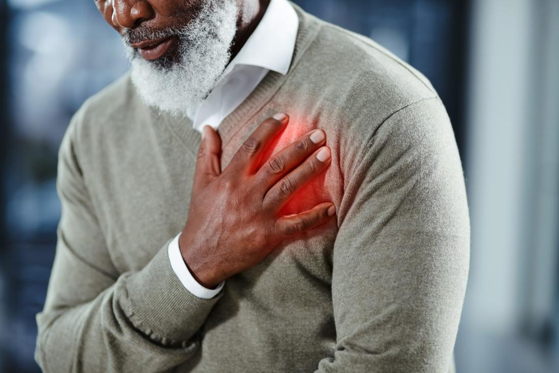 senior having a heart attack