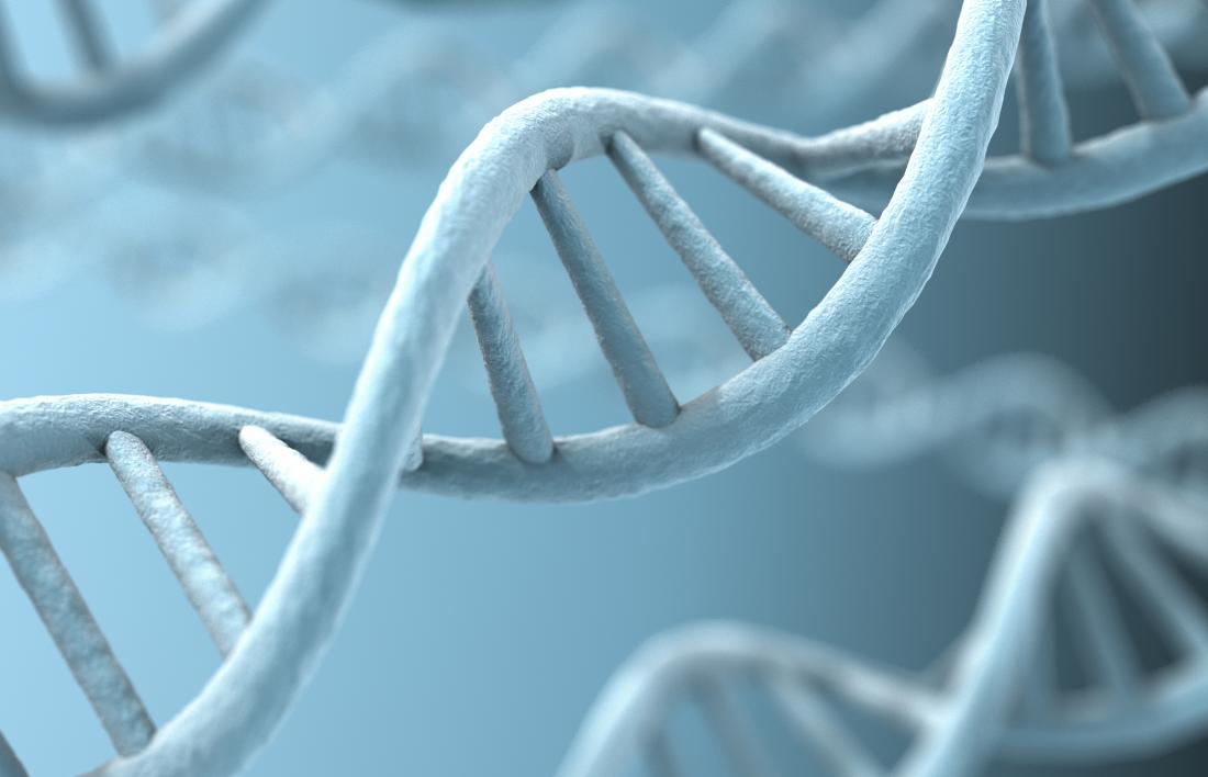 3D image of a DNA strand representing genetics