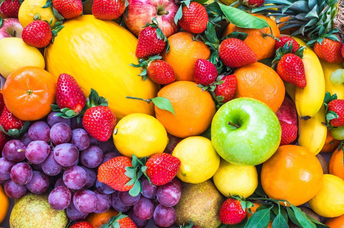 Close up image of mixed fruit