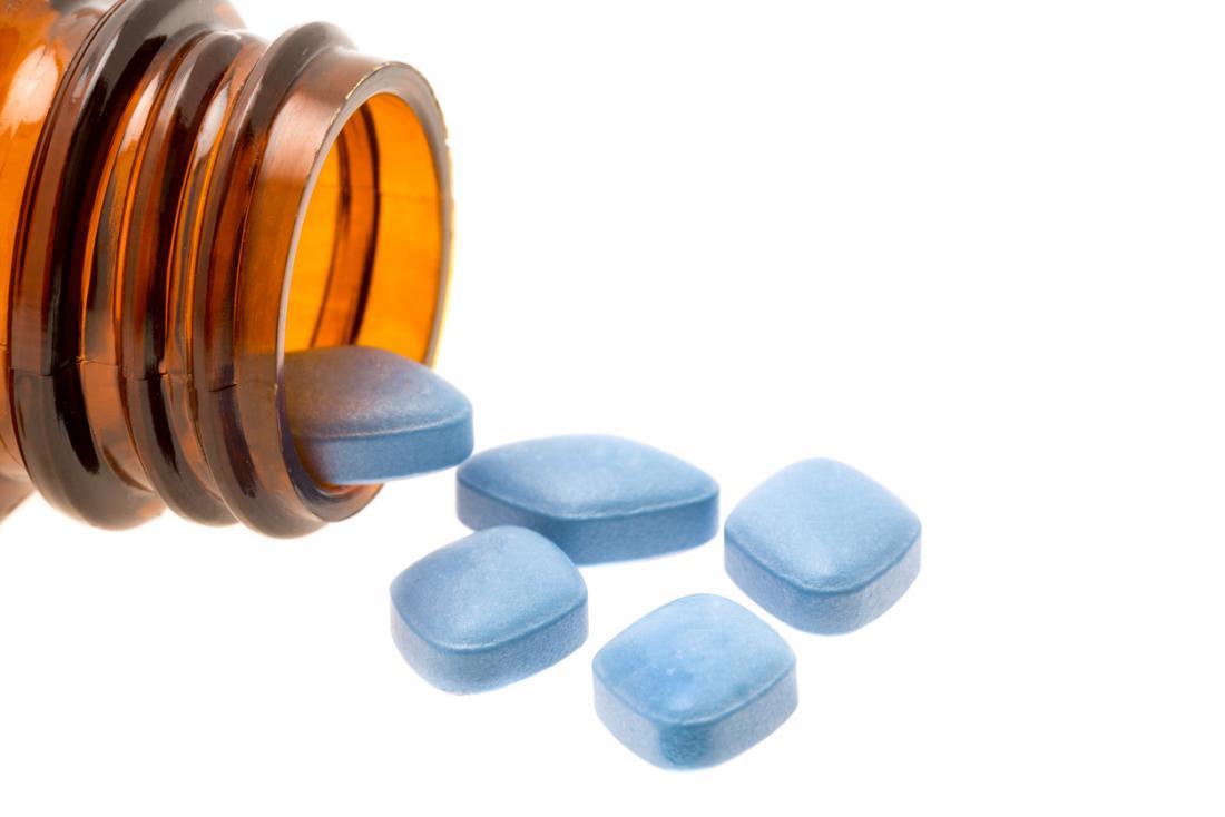 viagra pills spilling out of a medicine pot