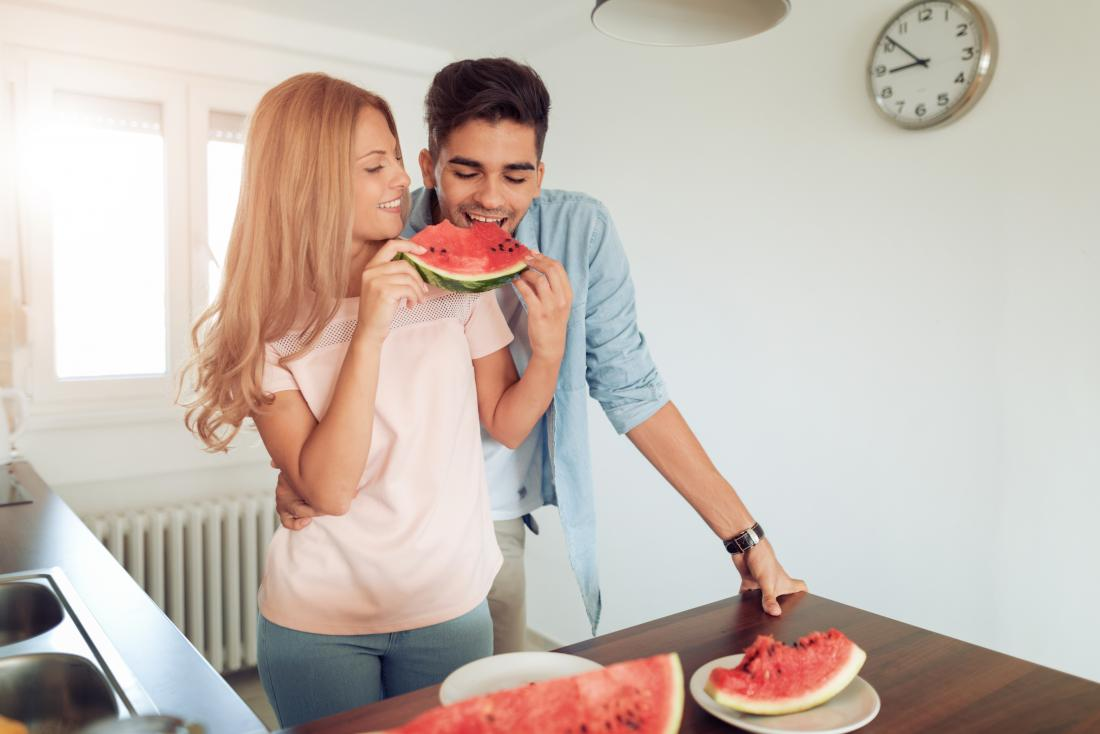 Watermelon viagra man and woman eating watermelon