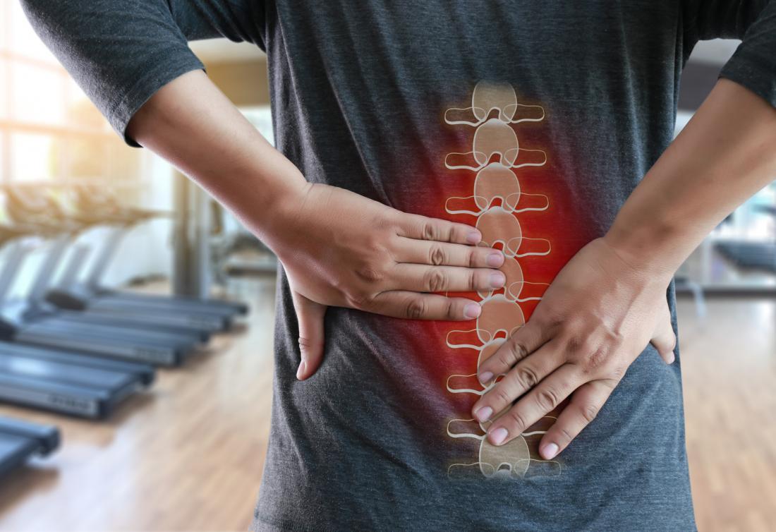 Low back pain illustration gym