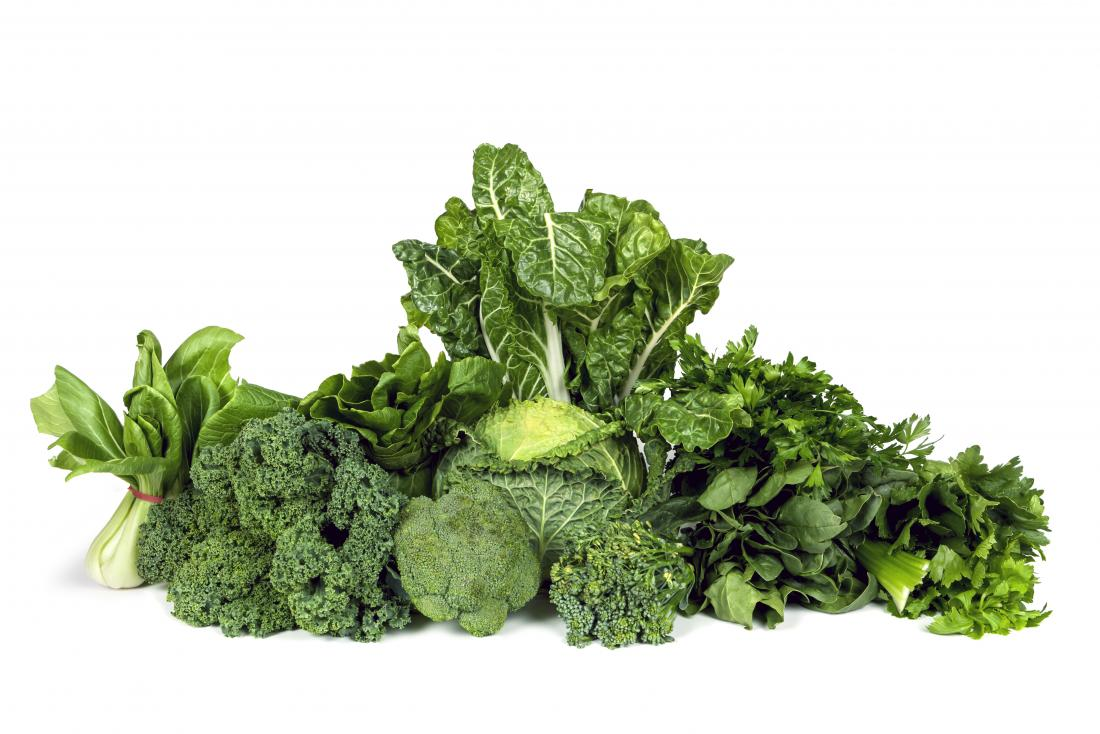 selection of greens