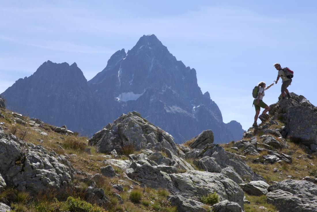 Man and woman at high altitude