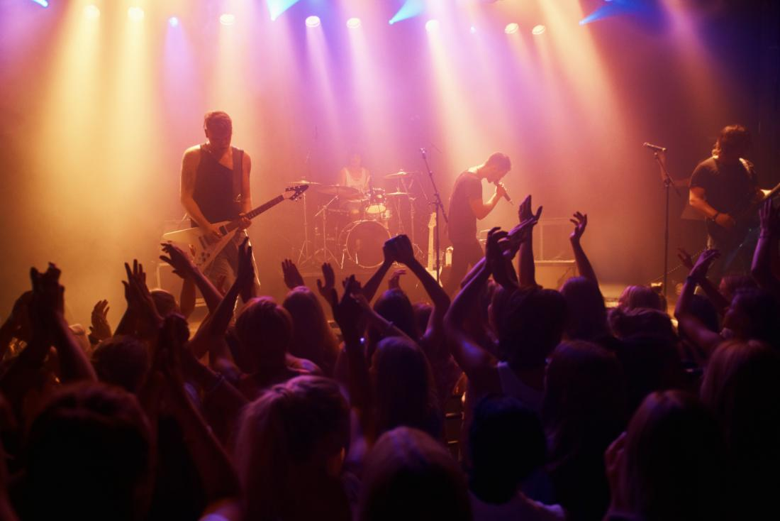 band and crowd at concert<!--mce:protected %0A-->