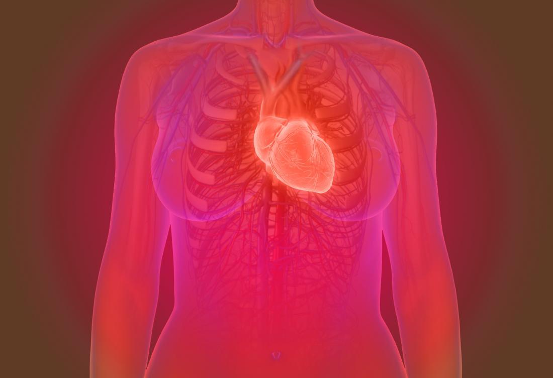 womans heart concept illustration