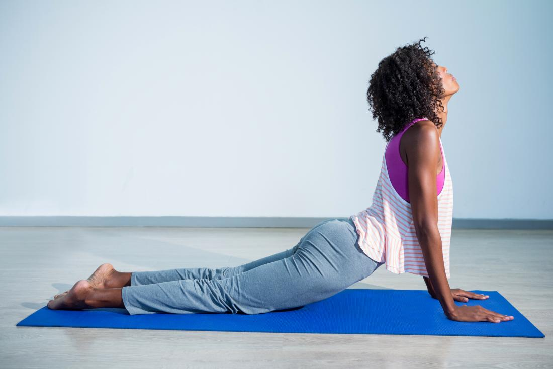 cobra pose or bhujangasana yoga pose