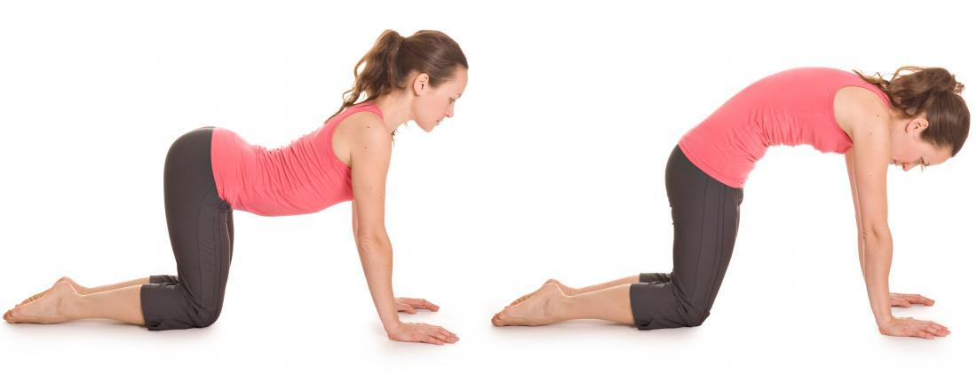 Cat-cow yoga pose