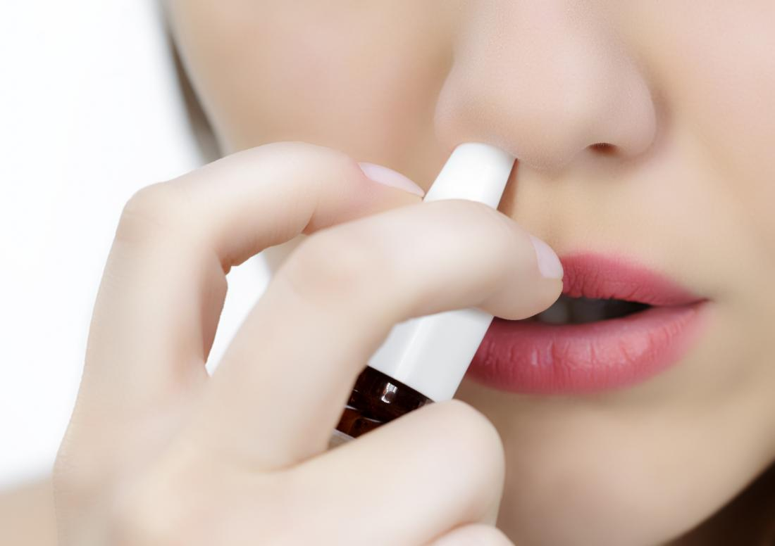 A saline nose spray can help with a dry nose