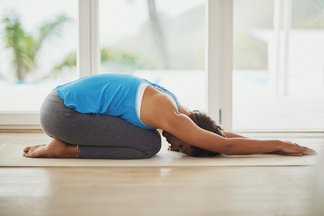 child's pose yoga helps lower back spasms