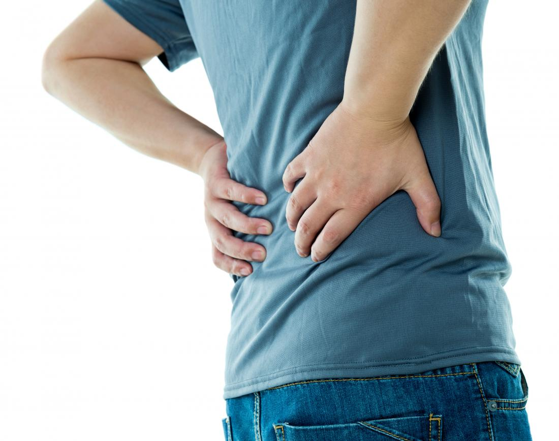 Back pain due to psoriatic arthritis of the spine