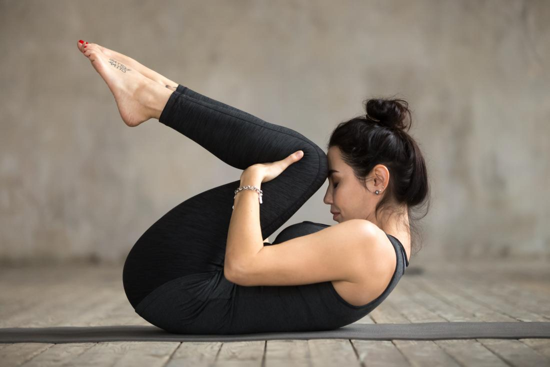 knee to chest yoga pose may help when a person wants to know how to fart