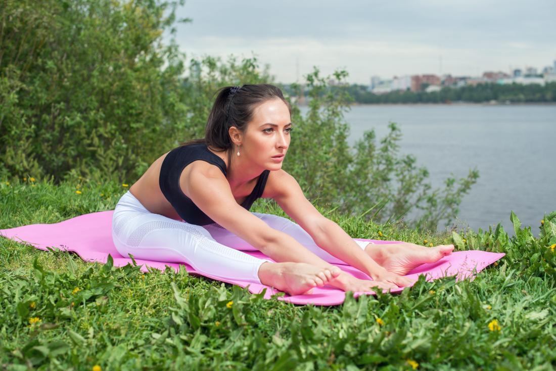 Seat forward fold yoga pose