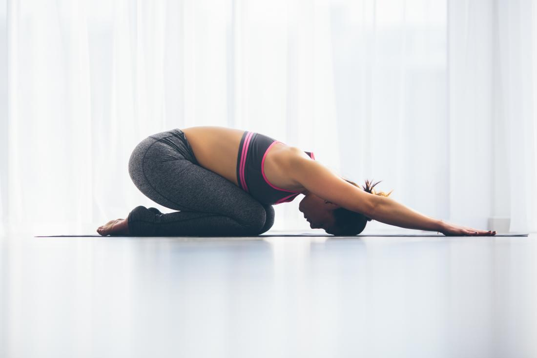 Yoga can help release trapped wind